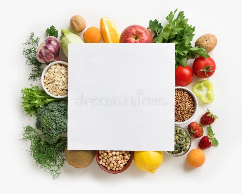 Fondo dell'alimento biologico fotografie stock libere da diritti
