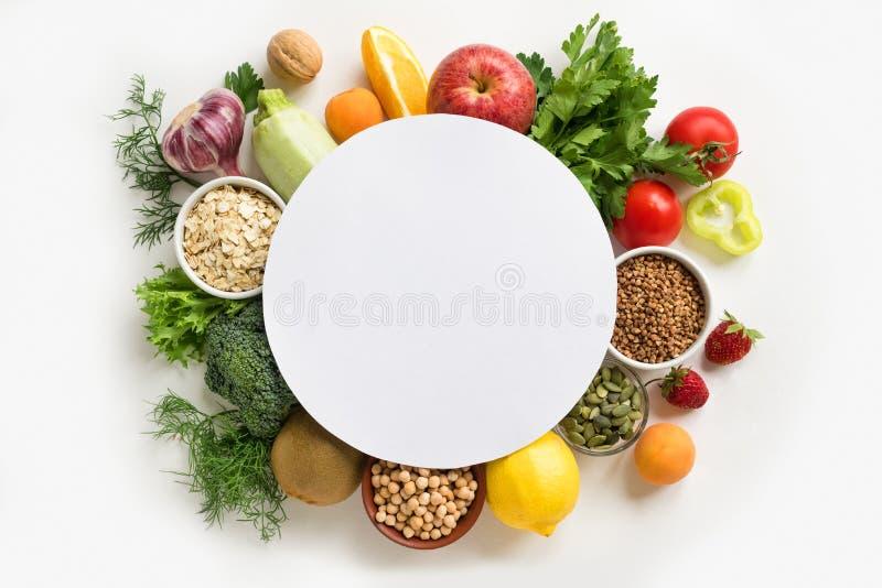Fondo dell'alimento biologico immagini stock libere da diritti