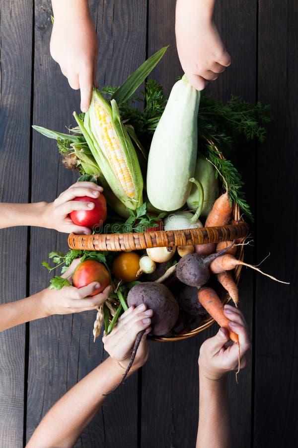 Fondo dell'alimento fresco di Veg, mercato sano Verdure organiche immagine stock libera da diritti