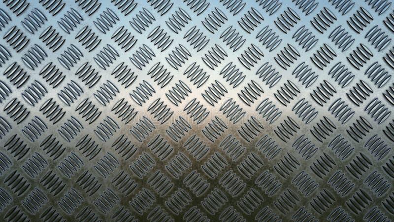 Fondo dell'alluminio del metallo del pavimento immagini stock
