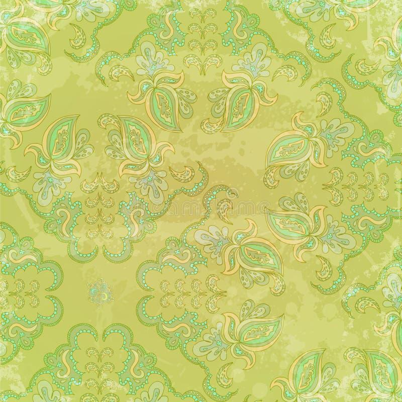 Fondo dell'annata con gli elementi dell'ornamento floreale royalty illustrazione gratis