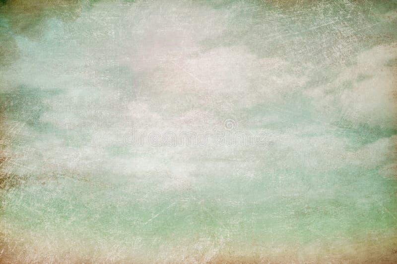 Fondo dell'annata del cielo nuvoloso fotografia stock libera da diritti