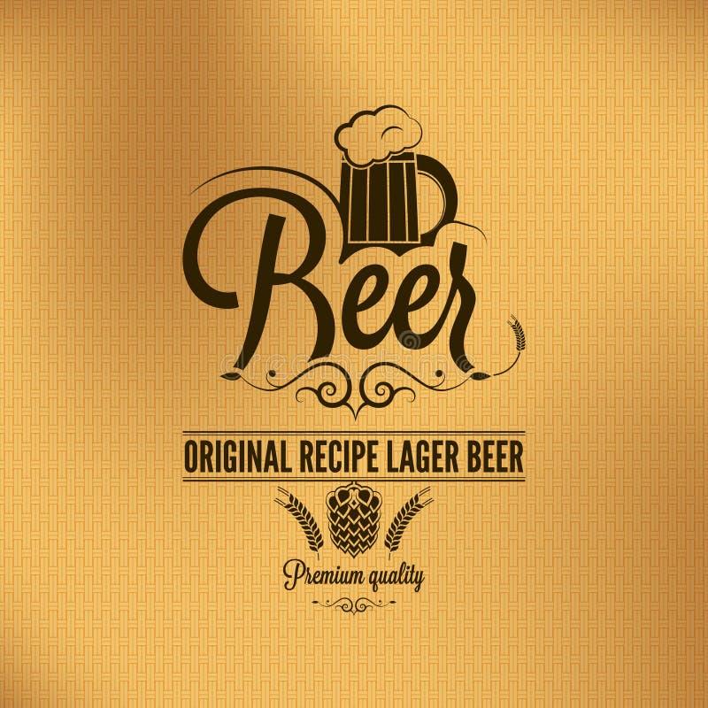 Fondo dell'annata della lager della birra illustrazione di stock