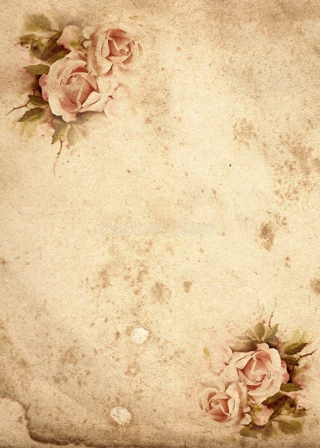 Fondo dell'annata delle rose illustrazione di stock