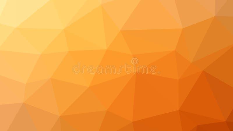 fondo dell'arancia del poligono del triangolo dell'estratto 8K illustrazione vettoriale