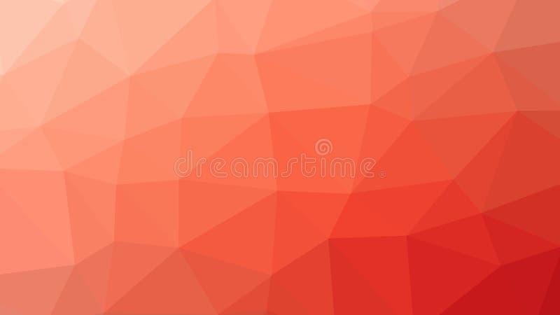 fondo dell'arancia del poligono del triangolo dell'estratto 8K royalty illustrazione gratis