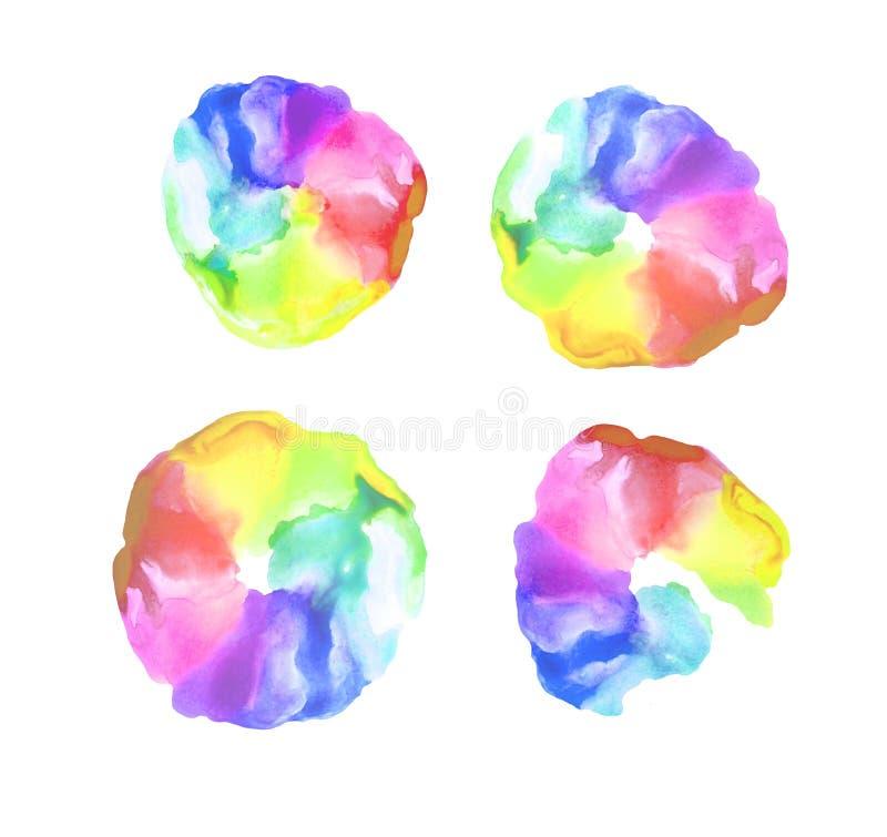Fondo dell'arcobaleno dell'acquerello royalty illustrazione gratis