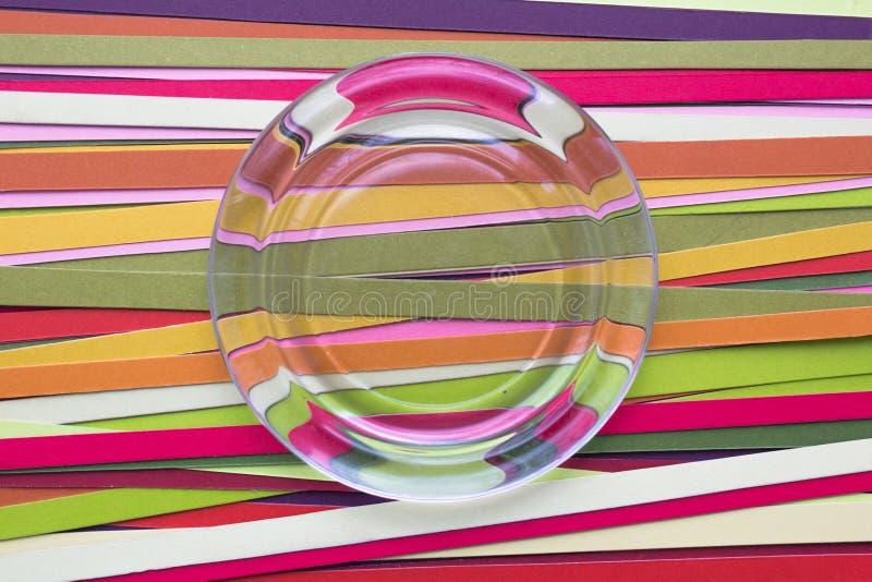 Fondo dell'arcobaleno delle linee di colore fotografia stock libera da diritti