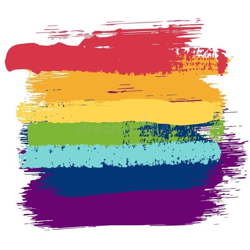 Fondo dell'arcobaleno di lerciume illustrazione di stock