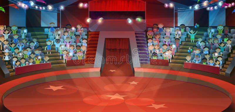 Fondo dell'arena del circo royalty illustrazione gratis