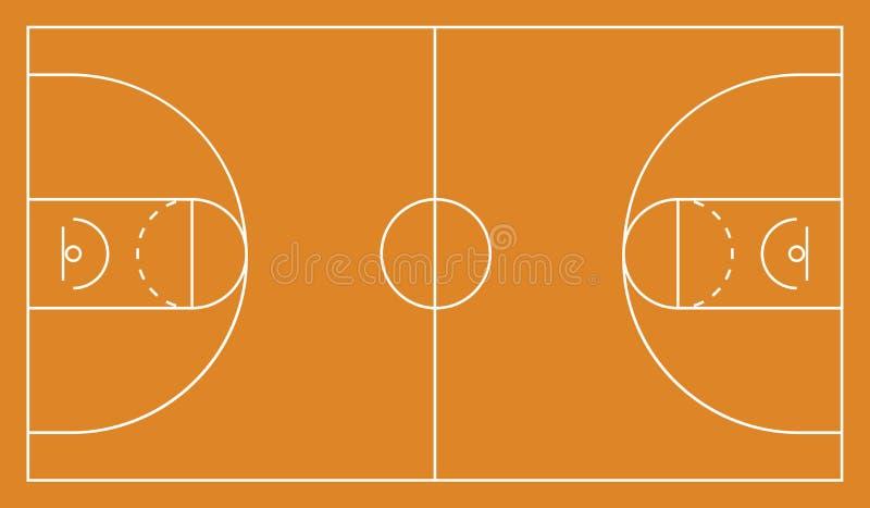 Fondo dell'arena di pallacanestro Illustrazione ENV 10 di vettore illustrazione vettoriale