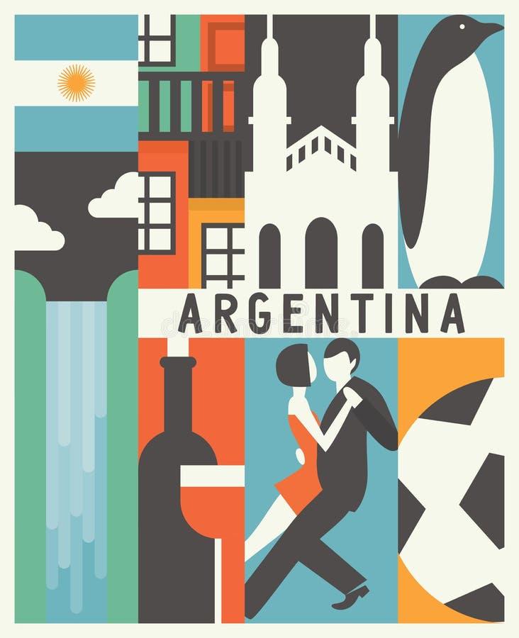 Fondo dell'Argentina di vettore immagini stock libere da diritti