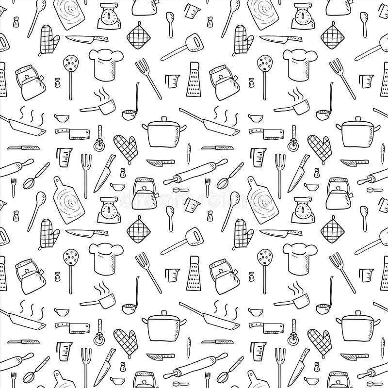 Fondo dell'articolo da cucina illustrazione vettoriale