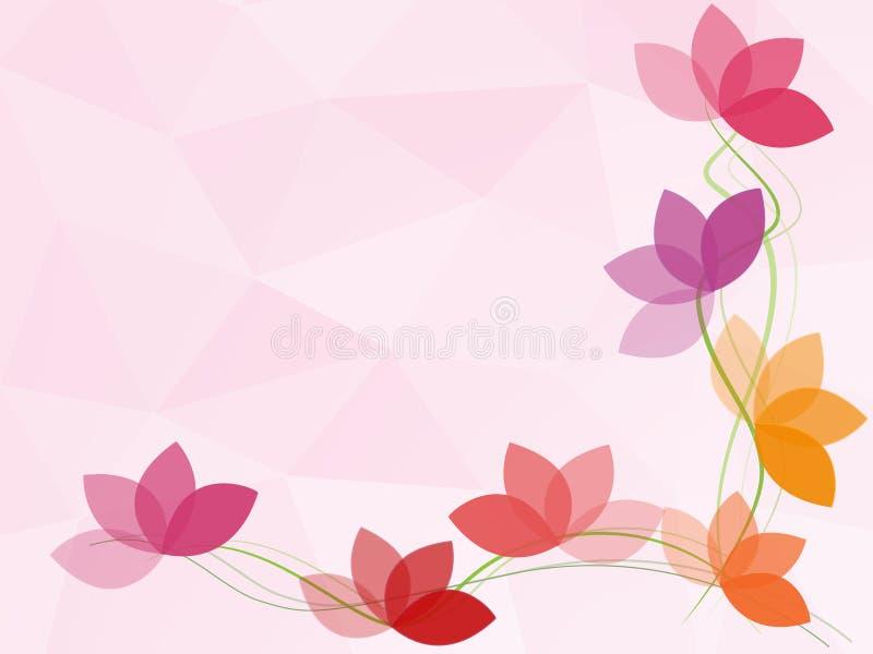 Fondo dell'estratto del poligono del fiore illustrazione di stock