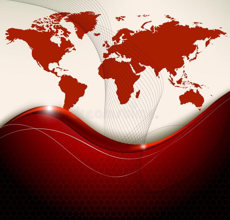 Fondo dell'estratto della mappa di mondo illustrazione di stock