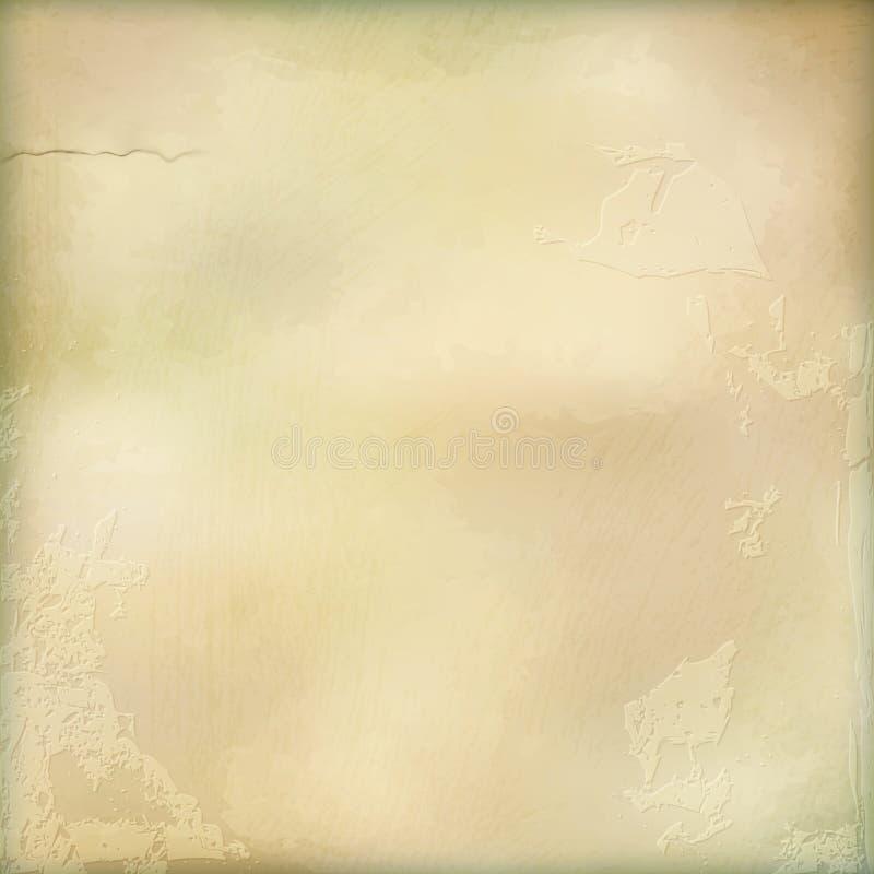 Fondo dell'estratto della parete del gesso invecchiato vettore illustrazione di stock