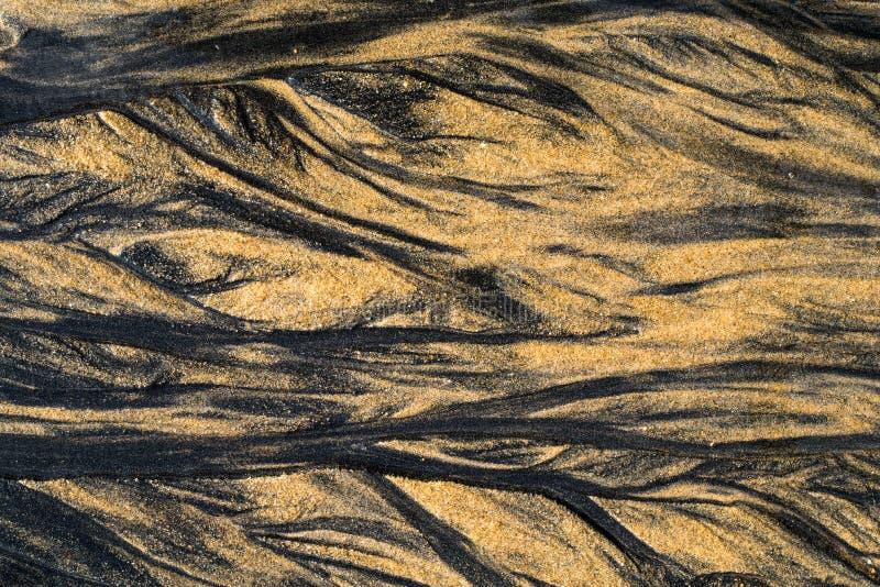 Fondo dell'estratto di struttura della spiaggia di sabbia di Brown fotografie stock