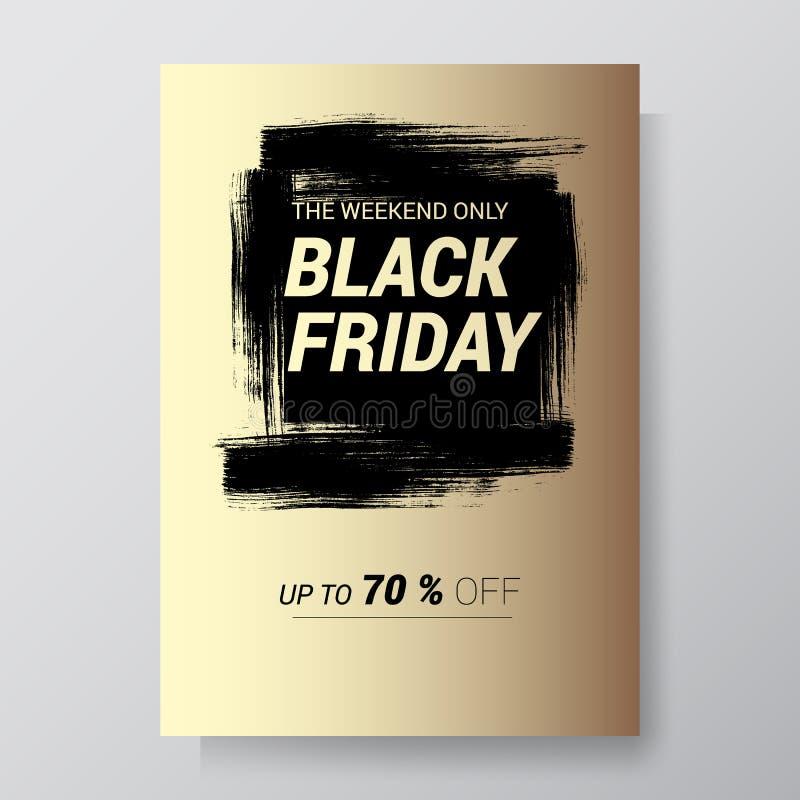Fondo dell'estratto di vendita di Black Friday Aletta di filatoio di vettore con progettazione di tendenza Illustrazione di vetto illustrazione di stock