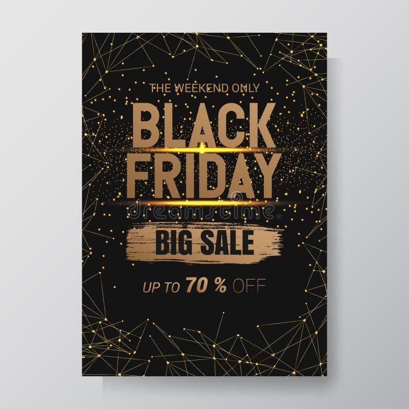 Fondo dell'estratto di vendita di Black Friday Aletta di filatoio di vettore con progettazione di tendenza Illustrazione di vetto royalty illustrazione gratis