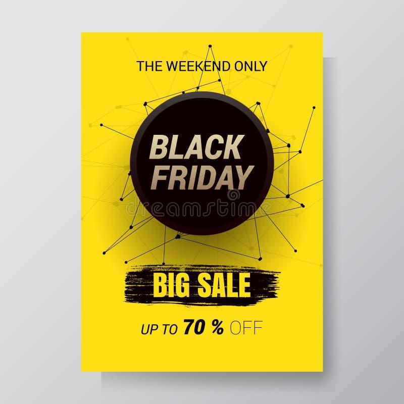 Fondo dell'estratto di vendita di Black Friday Aletta di filatoio di vettore con progettazione di tendenza Illustrazione di vetto illustrazione vettoriale