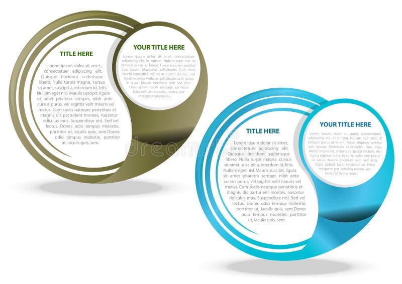 Fondo dell'estratto di vettore di due colori illustrazione vettoriale