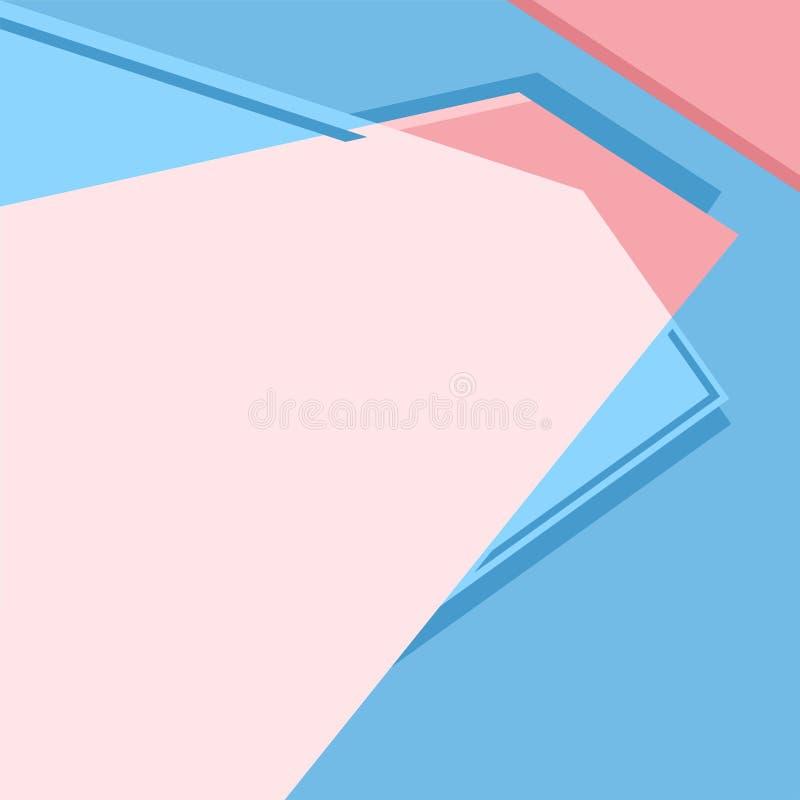Fondo dell'estratto dell'illustrazione di vettore delle forme geometriche differenti royalty illustrazione gratis