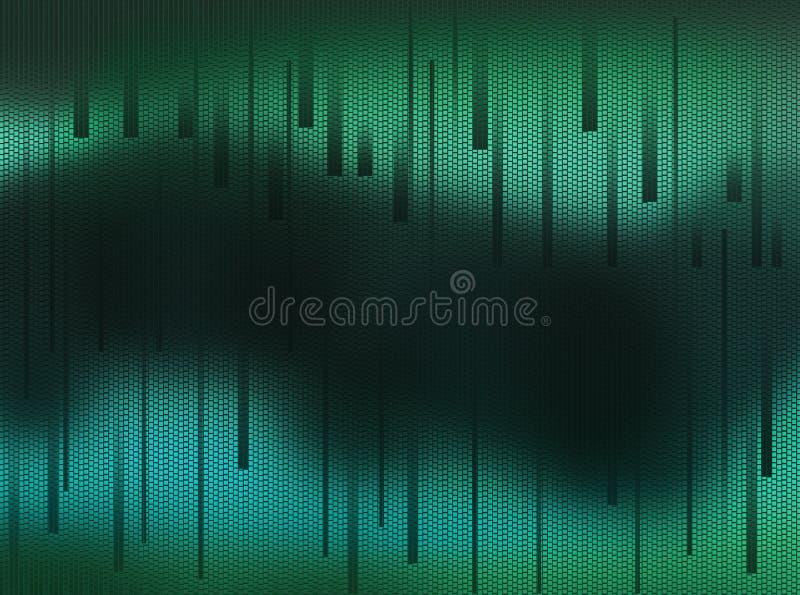 Fondo dell'estratto verde scuro al blu con un centro molto scuro illustrazione vettoriale