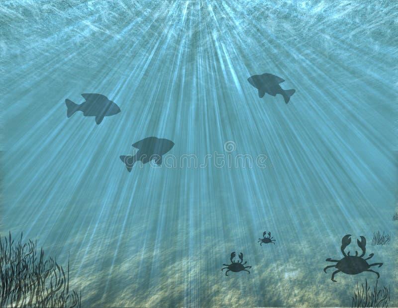 Fondo dell'oceano royalty illustrazione gratis