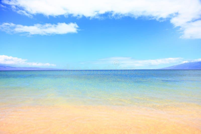 Fondo dell'oceano della spiaggia di estate di vacanza fotografia stock libera da diritti