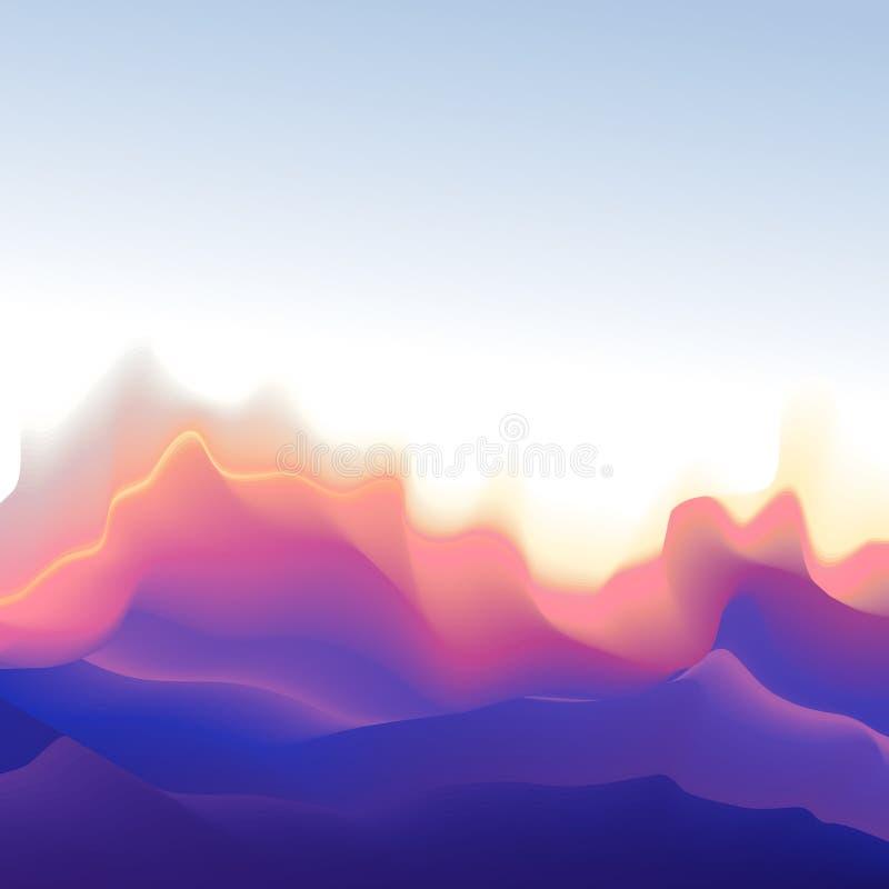 Fondo dell'onda di forma della montagna fotografia stock libera da diritti