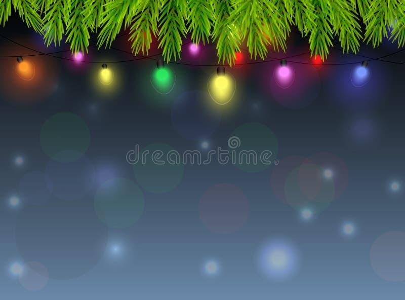 Fondo dell'ornamento di Natale illustrazione di stock