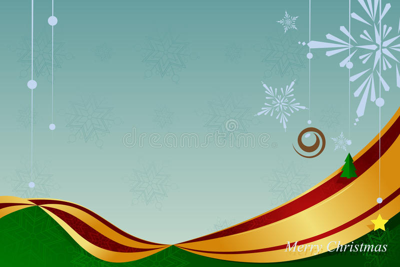 Fondo dell'ornamento di Natale illustrazione vettoriale