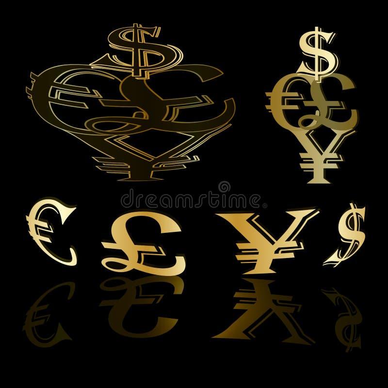 Fondo dell'oro di valuta royalty illustrazione gratis