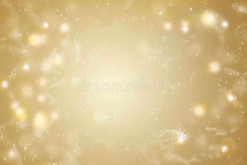 Fondo dell'oro Luce dorata astratta, splendore fotografia stock libera da diritti