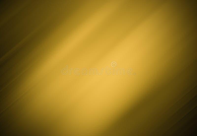 Fondo dell'oro, fondo nero, immagine di sfondo con la diagonale, il nero leggero ed oro fotografia stock