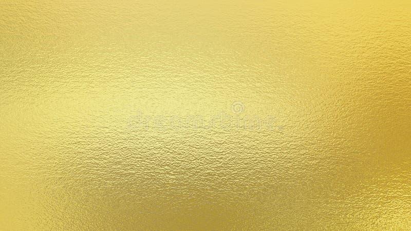 Fondo dell'oro Struttura decorativa della stagnola dorata immagine stock libera da diritti
