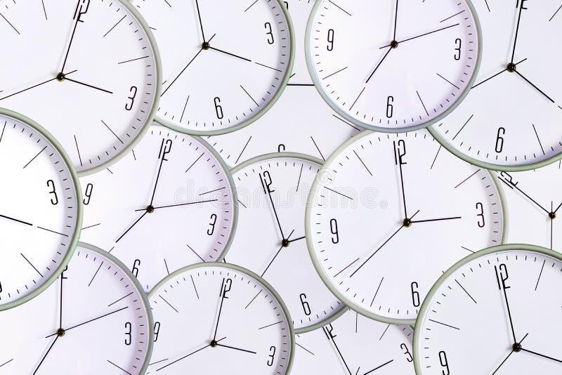 Fondo dell'orologio Mancanza di concetto di tempo esattezza ritardo illustrazione di stock