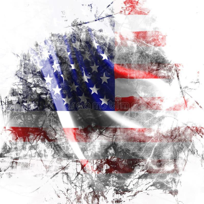 Fondo della bandiera americana royalty illustrazione gratis