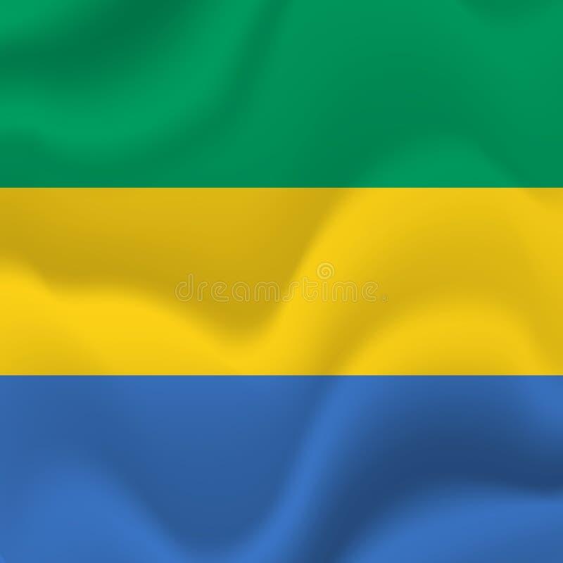 Fondo della bandiera del Gabon Vettore illustrazione di stock