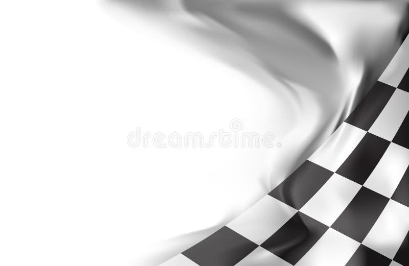 Fondo della bandiera della corsa illustrazione vettoriale