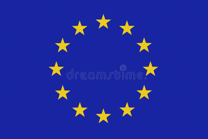 Fondo della bandiera di UE La bandierina di Unione Europea 3d rendono l'illustrazione royalty illustrazione gratis