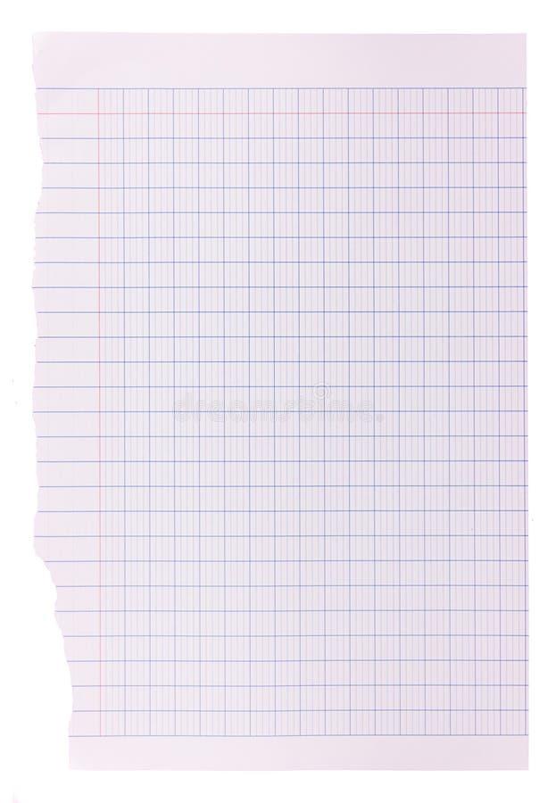 Fondo della carta in bianco - impianto a scacchiera blu immagine stock