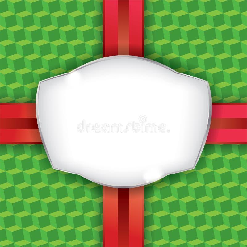 Fondo della carta da imballaggio del regalo di Natale illustrazione vettoriale