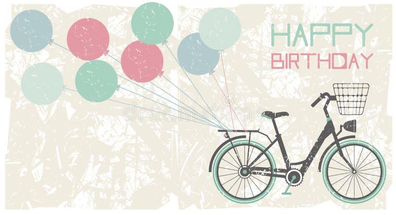 Fondo della cartolina d'auguri di compleanno immagine stock