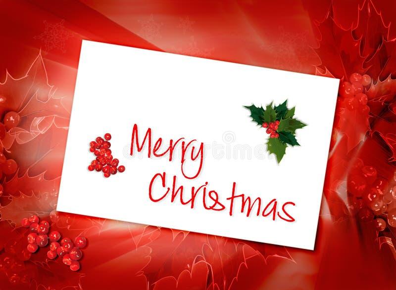Fondo della cartolina di Natale illustrazione vettoriale