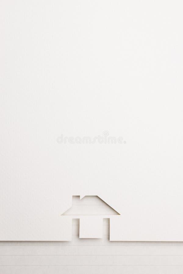 Fondo della casa facile sul confine della carta da lettere fotografia stock libera da diritti