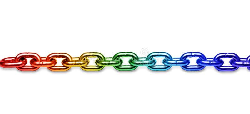 Fondo della catena dell'arcobaleno di LGBT immagine stock