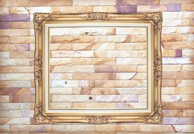 Fondo della cornice della parete di pietra fotografia stock libera da diritti