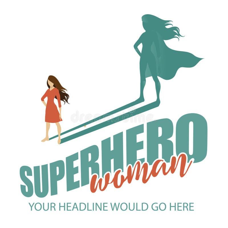 Fondo della donna del supereroe illustrazione vettoriale