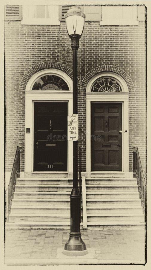 Fondo della facciata della costruzione fotografie stock